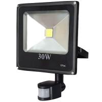 Proiector led cu senzor 30 W slim, lumina alba rece